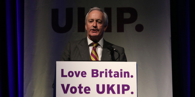 UKIP's Neil Hamilton speaks at the UKIP 2014 Spring Conference at the Riviera International on February 28, 2014 in Torquay, England. The anti-European Union UK Independence Party leader Nigel Farage is looking to galvanise support ahead of May's European Parliament elections when they hope to win the most seats in the contest, building on its strong poll ratings and success in last year's local elections.  (Photo by Matt Cardy/Getty Images)
