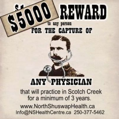 doctor wanted poster