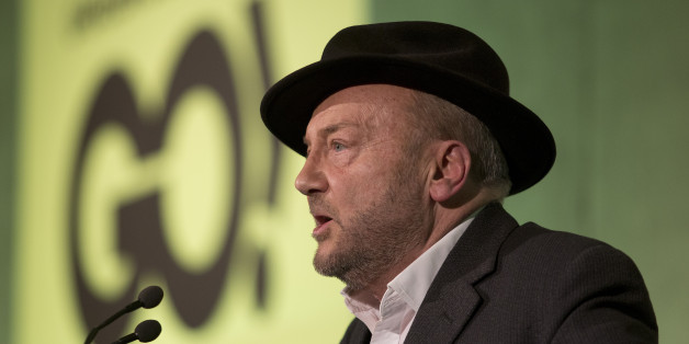 Respect MP George Galloway speaks in a public meeting of the cross-party union, Grassroots Out, at the Queen Elizabeth II Centre in Westminster, central London, on the day when David Cameron is in Brussels for crucial summit on his EU reform demands.