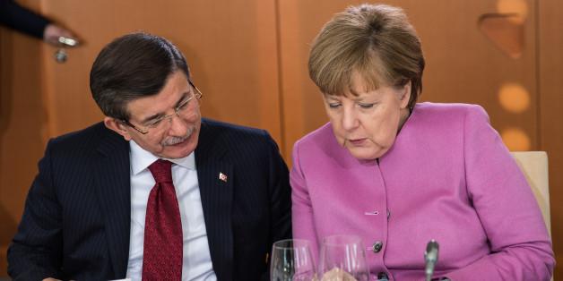 Anglea Merkel und der türkische Ministerpräsident Davutoglu