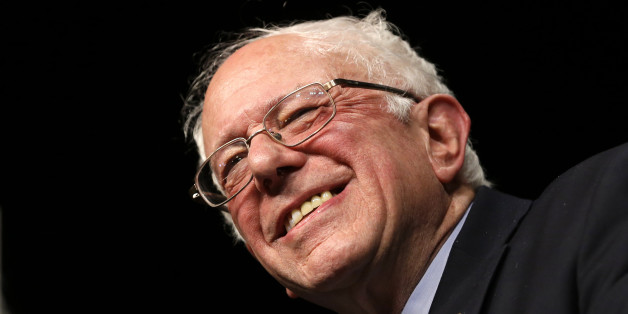 Democratic presidential candidate, Sen. Bernie Sanders, I-Vt., smiles during a campaign rally, Tuesday, March 8, 2016, in Miami. (AP Photo/Alan Diaz)