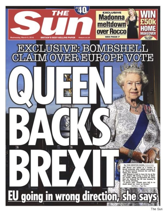 sun queen backs brexit