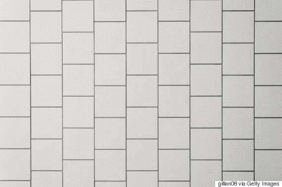 white tiles black grout