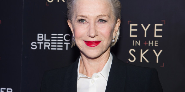 """Helen Mirren attends the premiere of """"Eye In The Sky"""" at AMC Loews Lincoln Square on Wednesday, March 9, 2016, in New York. (Photo by Charles Sykes/Invision/AP)"""