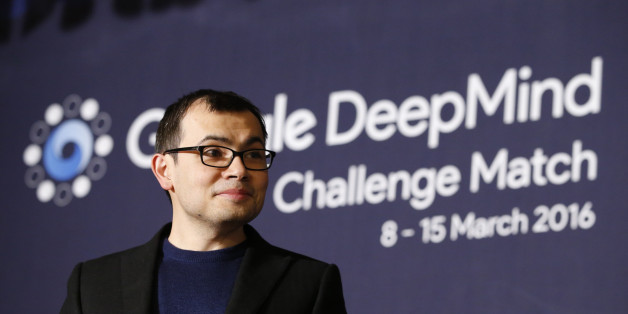 CEO of Google DeepMind Demis Hassabis attends at a press conference after the Google DeepMind Challenge Match between South Korean professional Go player Lee Sedol and Google's artificial intelligence program, AlphaGo, in Seoul, South Korea, Wednesday, March 9, 2016. Google's computer program AlphaGo defeated its human opponent, South Korean Go champion Lee Sedol, on Wednesday in the first game of a historic five-game match between human and computer.(AP Photo/Lee Jin-man)