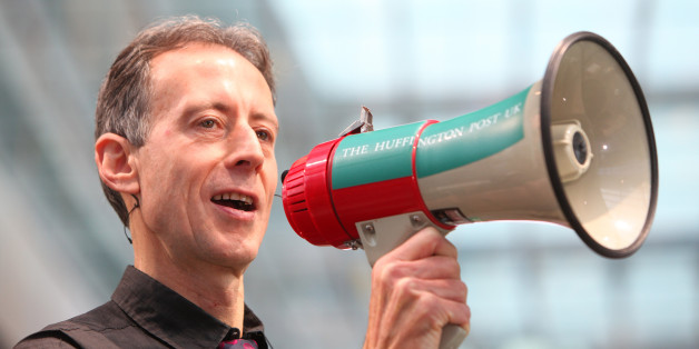 Peter Tatchell speaks at The Huffington Post UK Soapbox event at Westfield Stratford.