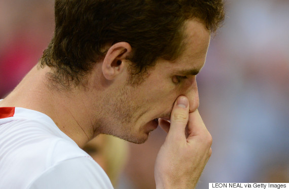 britains andy murray gestures 2012 wimbledon
