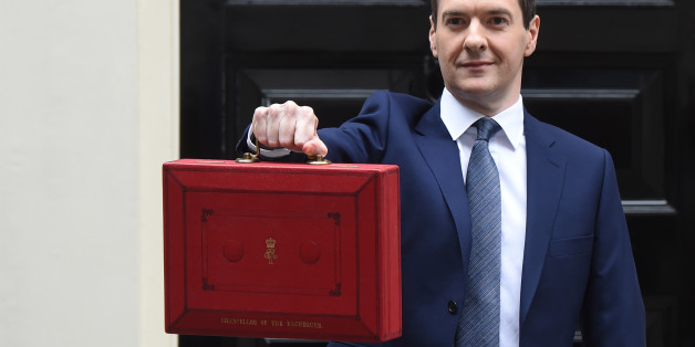 LONDON, ENGLAND - JULY 08:  The Chancellor of the Exchequer George Osborne holds his ministerial red box up to the media as he leaves 11 Downing Street on July 8, 2015 in London, England. The Chancellor is presenting his summer budget today to Parliament and is expected to announce £12 billion in welfare cuts.  (Photo by Stuart C. Wilson/Getty Images)