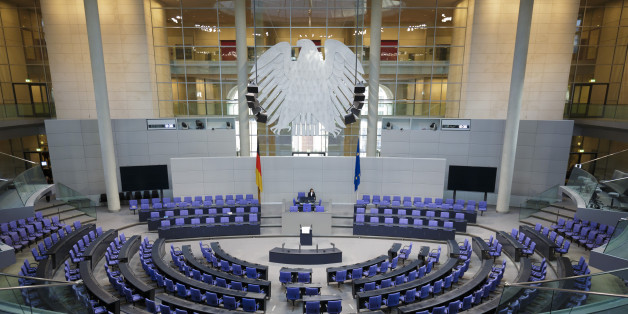 BERLIN, GERMANY - DECEMBER 16: An overview shows the empty German Parliament (Bundestag) on December 16, 2015 in Berlin, Germany.  (Photo by Thomas Trutschel/Photothek via Getty Images)