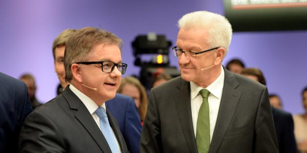 Landtagswahl Baden-Württemberg: Die Spitzenkandidaten Guido Wolf (l, CDU) und Winfried Kretschmann (Grüne)