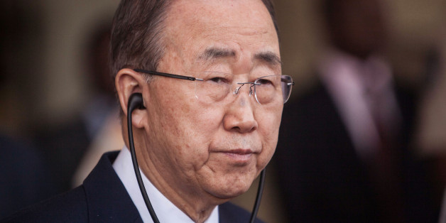 United Nations secretary-general Ban Ki-moon listens during a press briefing at the presidency in Ouagadougou, Burkina Faso, Thursday, March. 3, 2016. The United Nations secretary-general says he is deeply concerned by attacks by extremists in Burkina Faso and the region, urging a global response. (AP Photo/Theo Renaut)