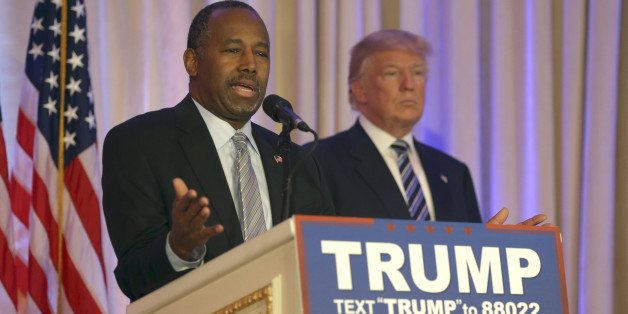 Former Republican presidential candidate Ben Carson speaks after announcing he will endorse Republican presidential candidate Donald Trump, during a news conference at the Mar-A-Lago Club, Friday, March 11, 2016, in Palm Beach, Fla. (AP Photo/Lynne Sladky)