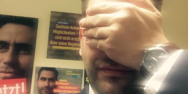 Auch Frank Sitta, FDP-Spitzenkandidat in Sachsen-Anhalt, hat der Huffington Post vor der Landtagswahl Selfies zugeschickt
