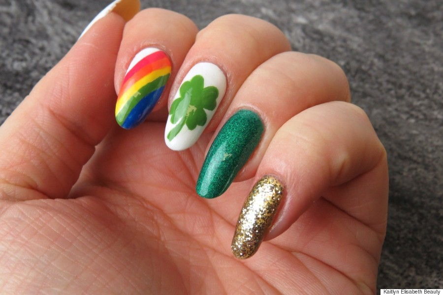 Nail Art A Fun And Easy St Patricks Day Design