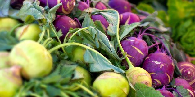 Es gibt violetten und grünen Kohlrabi - warum schmeck die Sorten aber eigentlich unterschiedlich
