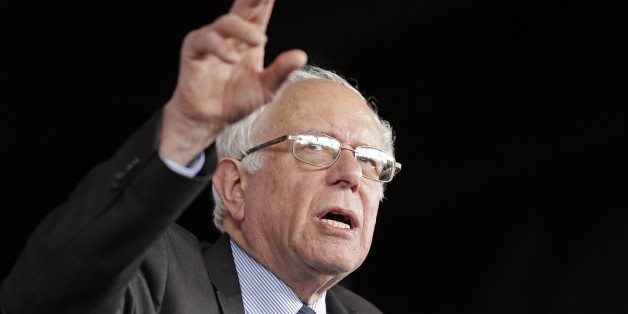 Democratic presidential candidate, Sen. Bernie Sanders, I-Vt., gestures as he speaks to supporters during a rally in Charlotte, N.C., Monday, March 14, 2016. (AP Photo/Chuck Burton)