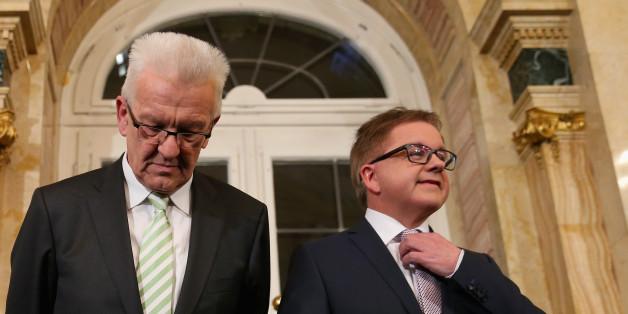 Der grüne Ministerpräsident Winfried Kretschmann und CDU-Kandidat Guido Wolf