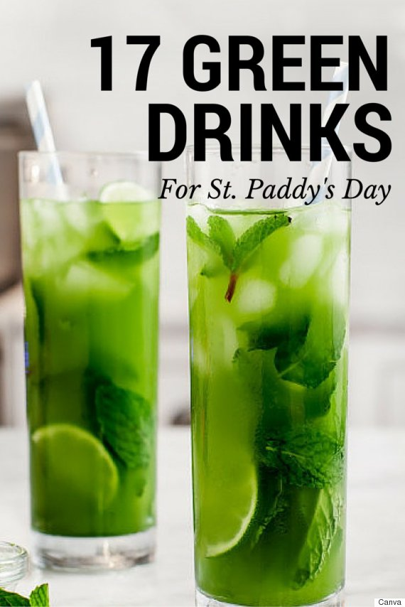 Green drink recipes 17 delicious recipes for st patrick for Mixed drinks with green tea