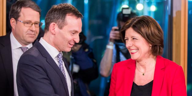 Ministerpräsidentin Malu Dreyer und der Landeschef der FDP Volker Wissing