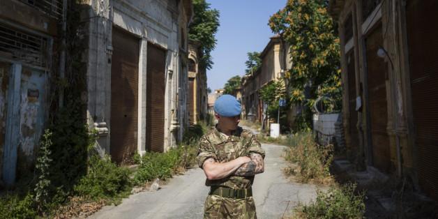 Ein UN-Soldat in der Pufferzone zwischen Zypern und der Türkischen Republik Nordzypern