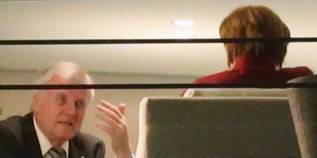 Horst Seehofer und Angela Merkel bei einem Treffen im Kanzleramt