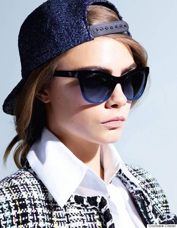 Les photos de la campagne lunettes de Chanel avec Cara Delevingne ... f39a5855debf