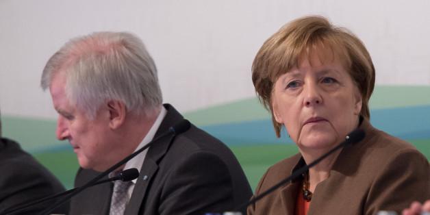 Horst Seehofer und Angela Merkel bei der Winterklausurtagung der CSU im Januar