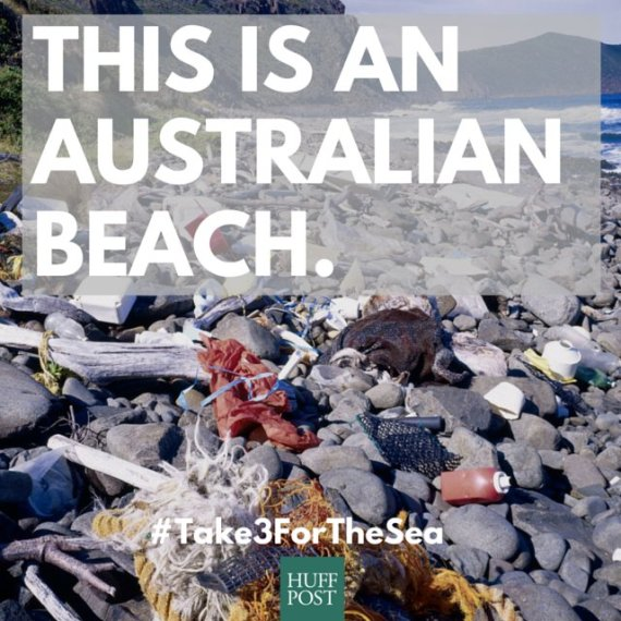 litter on australian beaches