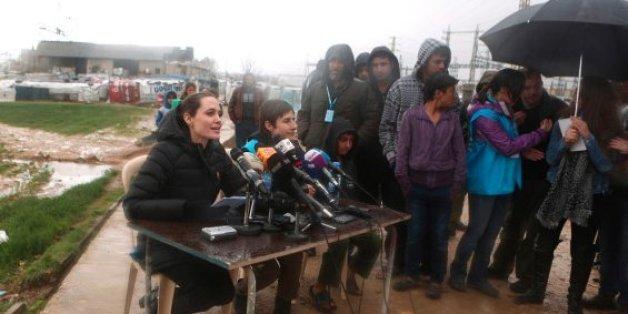 Angelina Jolie hat im Libanon über die Flüchtlingssituation gesprochen