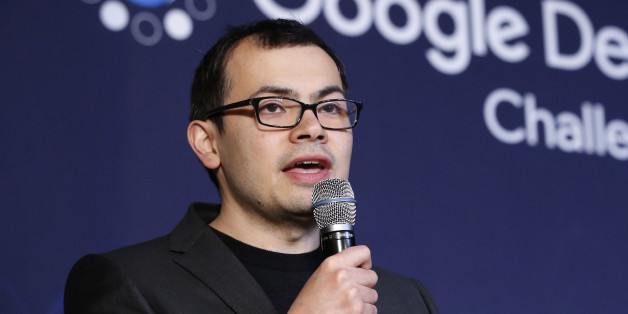 Google DeepMind CEO Demis Hassabis answers a reporter's question during a press conference after finishing the final match of the Google DeepMind Challenge Match against Google's artificial intelligence program, AlphaGo, in Seoul, South Korea, Tuesday, March 15, 2016. Google's Go-playing computer program again defeated its human opponent in a final match on Tuesday that sealed its 4:1 victory. (AP Photo/Lee Jin-man)