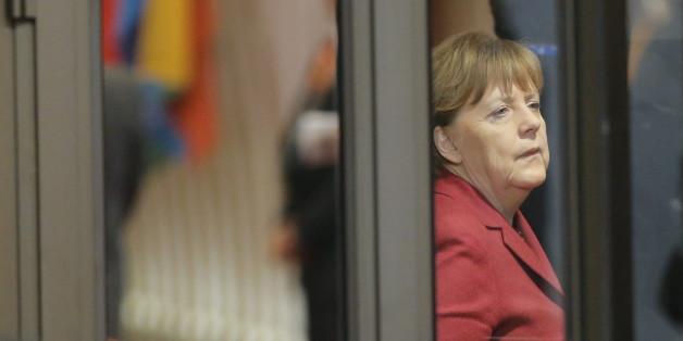 Angela Merkel in der Nacht bei den Verhandlungen in Brüssel