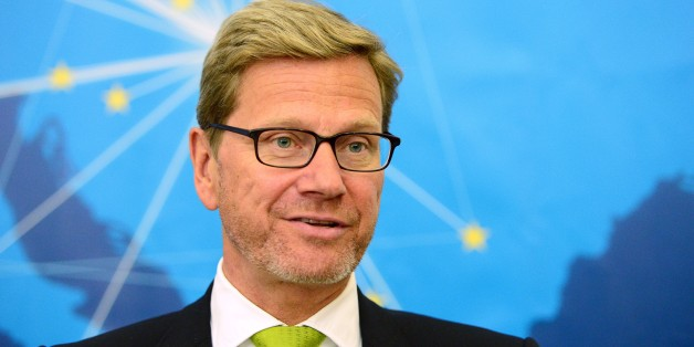 (FILES) Picture taken on April 28, 2014 shows former German Foreign Minister Guido Westerwelle in Budapest.