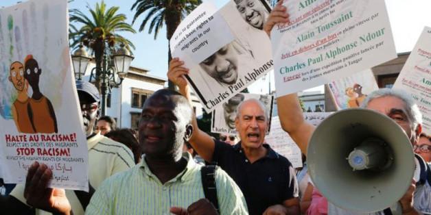 Des Marocains manifestaient en septembre 2014 à Rabat contre le racisme envers la population subsaharienne.