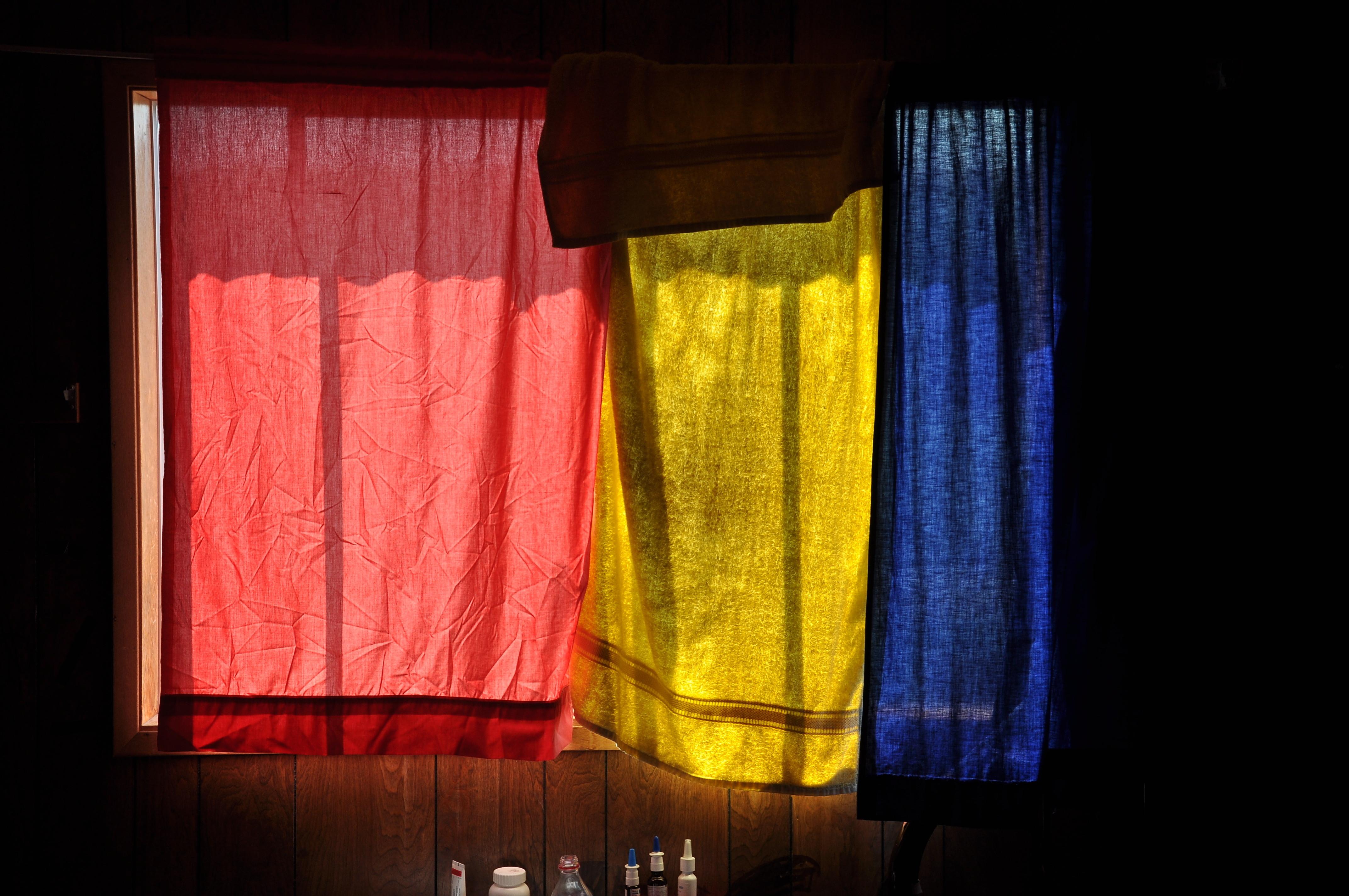 curtain towel window
