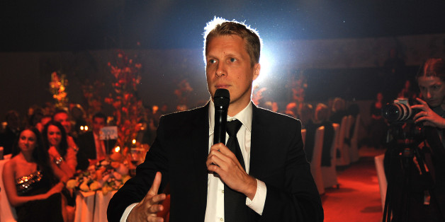 Oliver Pocher speaks to the audience during the Ronald McDonald Kinderhilfe Gala at Marx Halle on October 22, 2015 in Vienna, Austria.