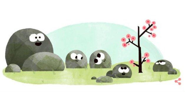 Google Doodle zum Frühlingsanfang am 20. März