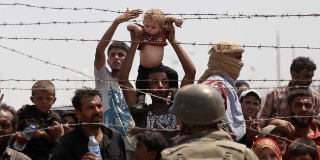 An der Grenze zwischen Syrien und der Türkei