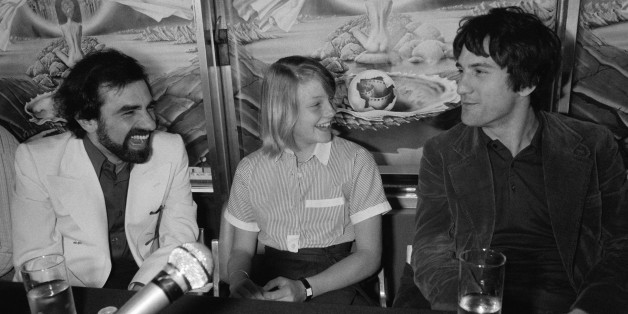CANNES, FRANCE - MAY: Press conference after presentation of movie Taxi Driver directed by Martin Scorsese with Jodie Foster and Robert de Niro at Cannes Film Festival in May 1976 in Cannes, France. (Photo by Pool GINFRAY/SIMON/Gamma-Keystone via Getty Images)