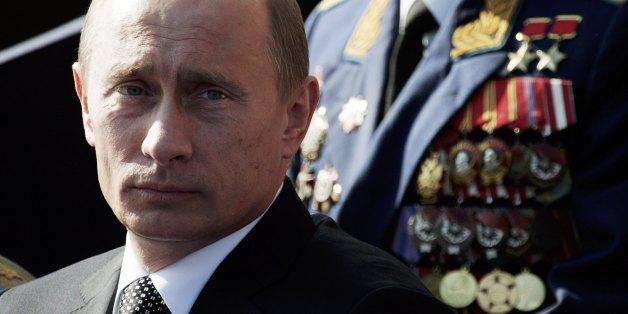 Der russische Präsident Wladimir Putin bei einer Militärparade in Moskau