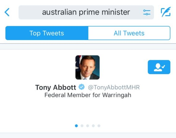 Twitter still thinks tony abbott is the australian prime minister even six months after he was deposed by turnbull tony abbott is still the prime minister of australia according to twitter turnbull comes in as the second malvernweather Image collections