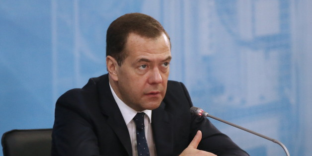MOSCOW REGION, RUSSIA. MARCH 15, 2016. Russia's prime minister Dmitry Medvedev at a meeting of senior members of the Council for Economic Modernisation and Innovative Development under the President of the Russian Federation. The meeting took place at Stankotekh, a machine building factory owned by the Stan group of companies in the town of Kolomna, Moscow Region. Yekaterina Shtukina/Russian Government Press Office/TASS (Photo by Yekaterina Shtukina\TASS via Getty Images)