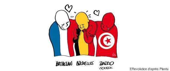 attentat bruxelles caricature tunisienne