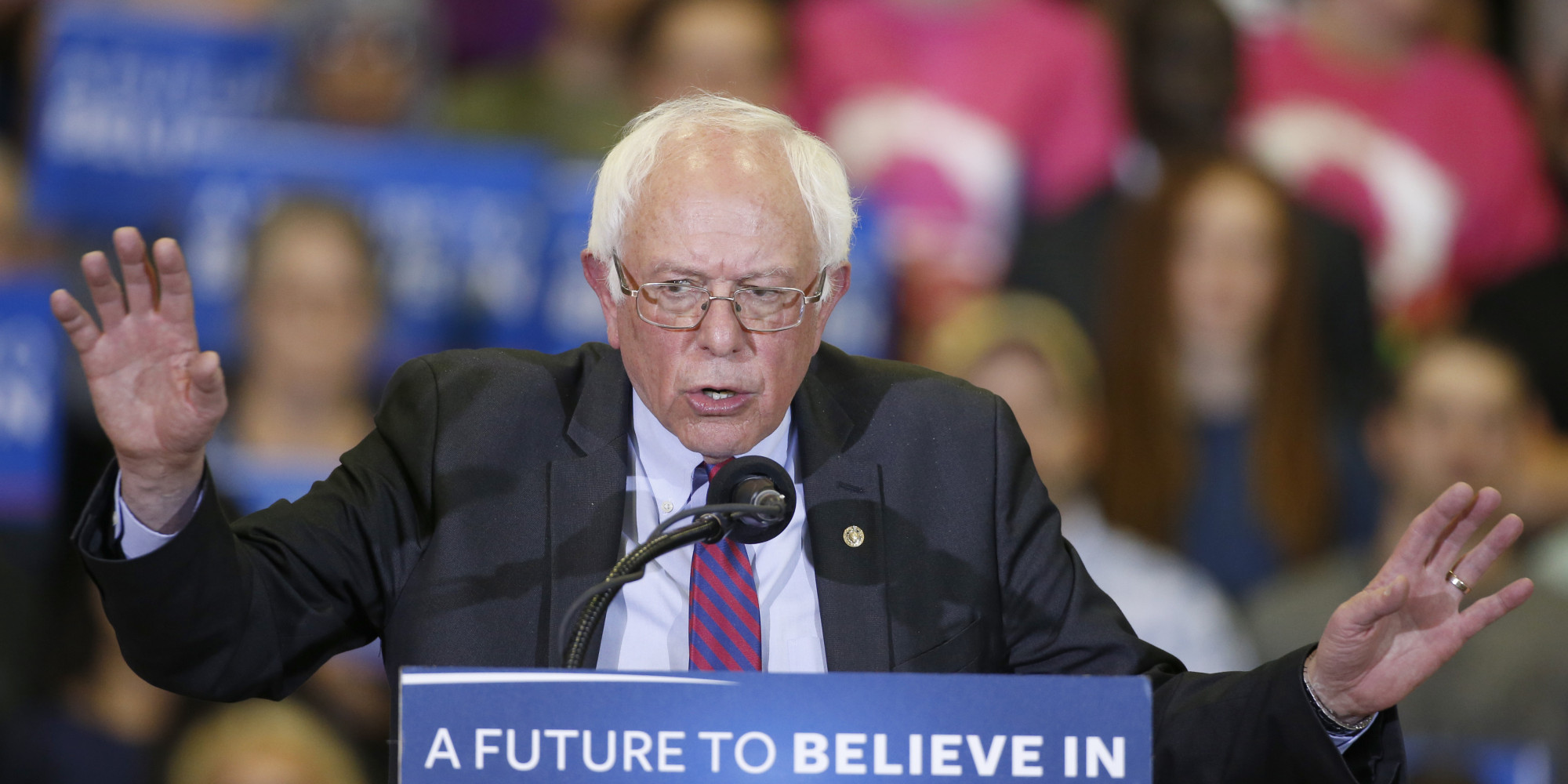 bernie sanders is currently winning the democratic primary race and