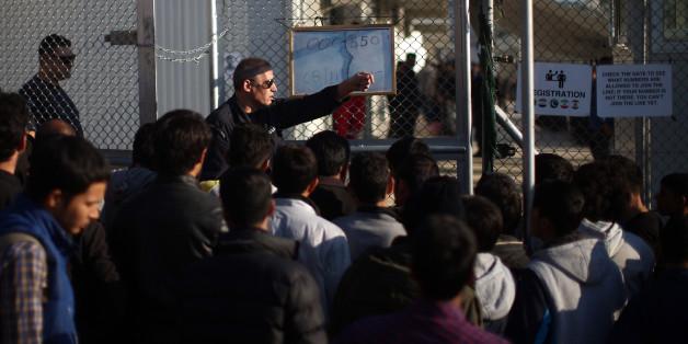 Flüchtlinge im EU-Hotspot Moria auf Lesbos