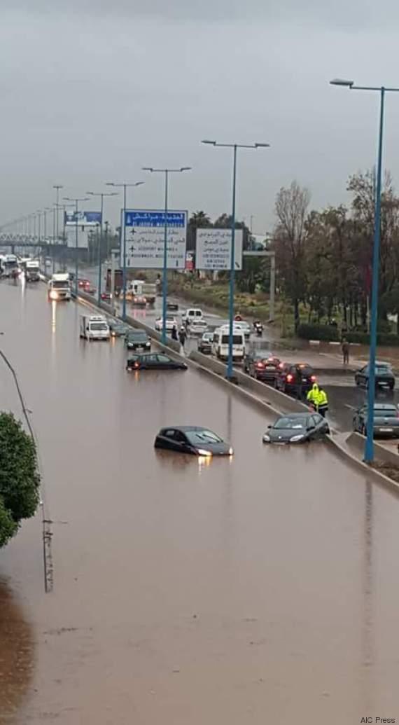 inondations route casa