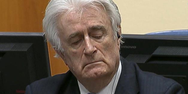 Das Foto stammt von einem Video während der Urteilsverkündung gegen Radovan Karadzic
