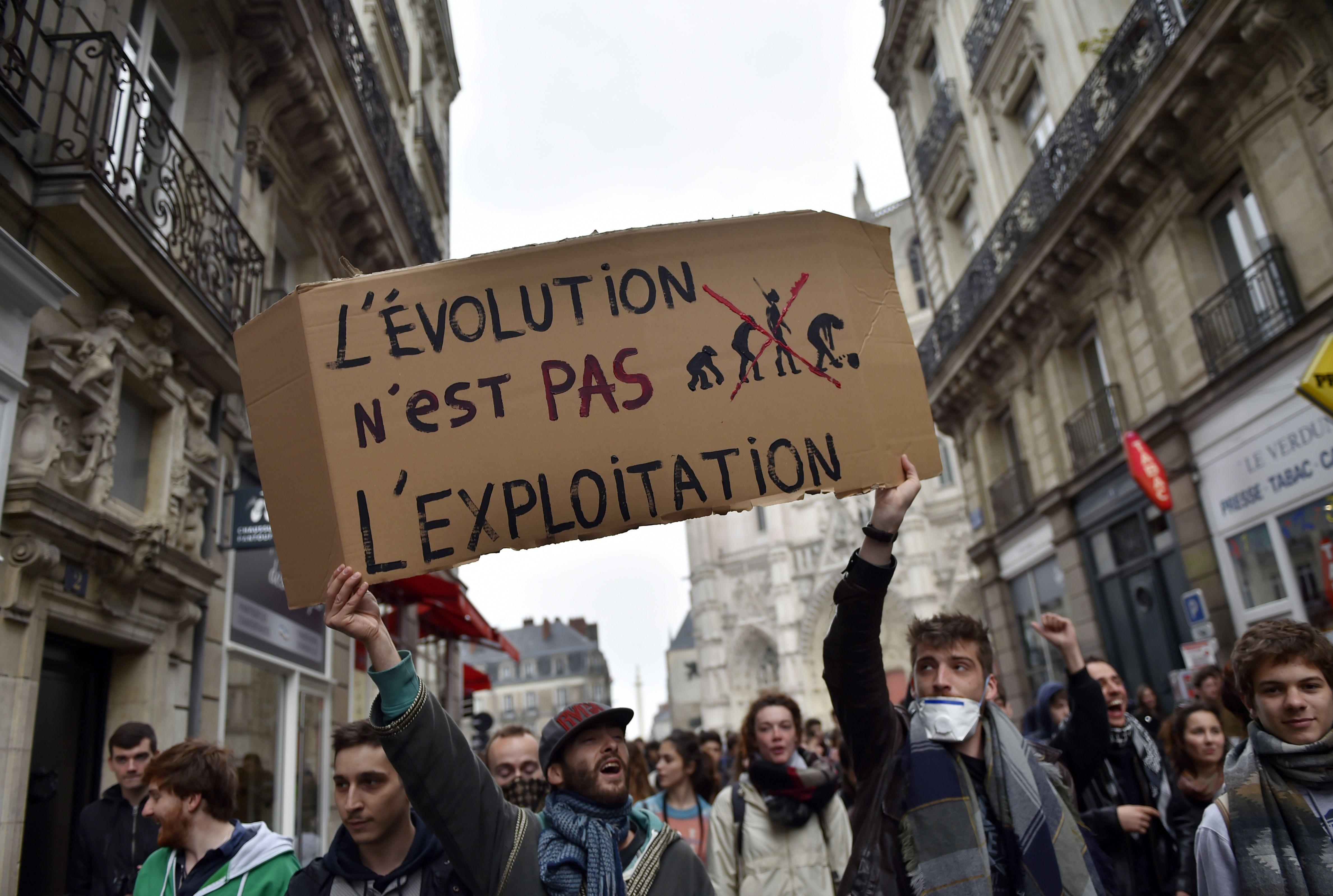 france work week protest