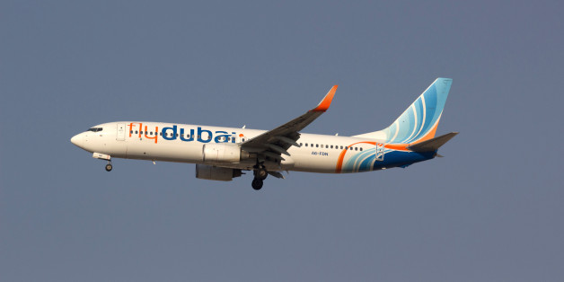 The Flydubai Boeing 737-800 airplane, registration A6-FDN, is pictured in the sky over Dubai, United Arab Emirates February 13, 2014.  All 62 people aboard a passenger jet flying from Dubai to southern Russia were killed when their plane crashed on its second attempt to land at Rostov-on-Don airport March 19, 2016, Russian officials said. Russia's emergencies ministry said the aircraft, a Boeing 737-800 operated by Dubai-based budget carrier Flydubai, crashed at 0340 (0040 GMT). Picture taken Fe