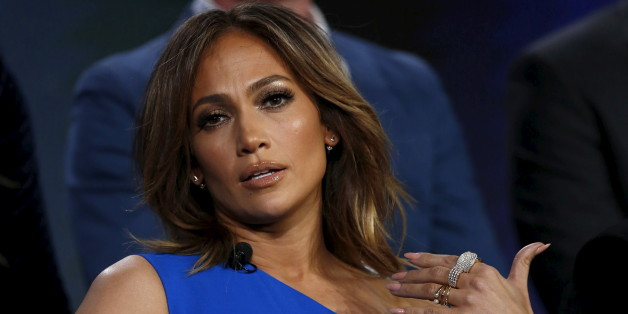 "Cast member and executive producer Jennifer Lopez speaks at a panel for the NBC series ""Shades of Blue"" during the Television Critics Association (TCA) Cable Winter Press Tour in Pasadena, California, January 13, 2016.  REUTERS/Mario Anzuoni"