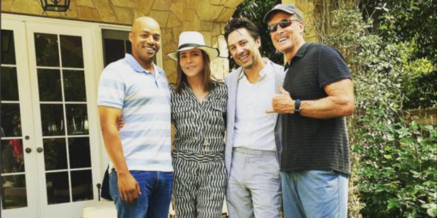 An Ostern feierten Donald Faison (Turk), Zack Braff (J.D.), Christa Miller (Jordan) und John C. McGinley (Dr. Cox) ein Wiedersehen